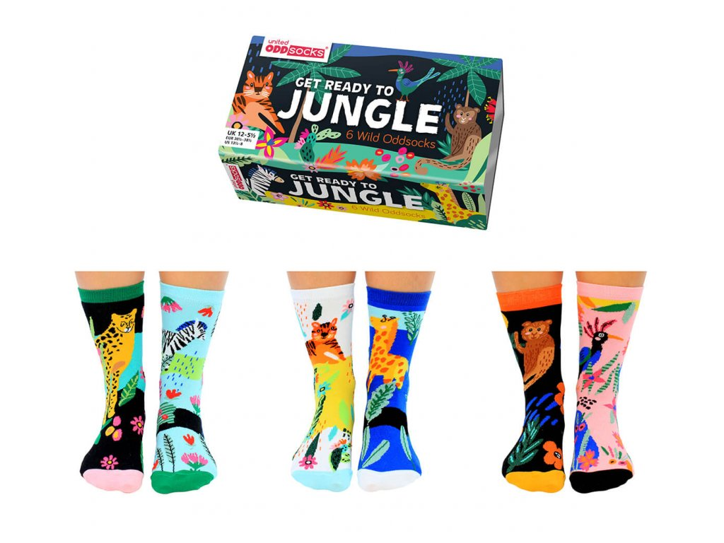 Veselé ponožky Get Ready To Jungle veľ.: 31-39