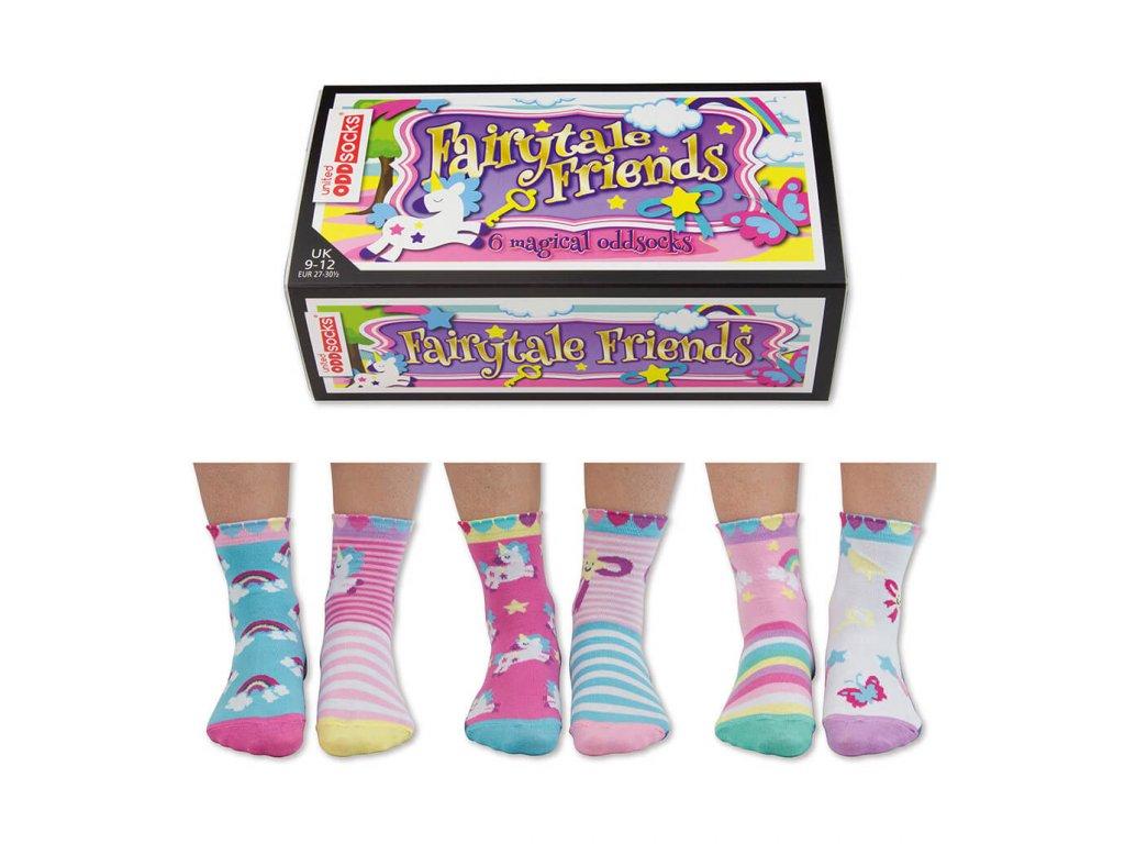 Detské veselé ponožky Fairytale Friends veľ.: 27-30