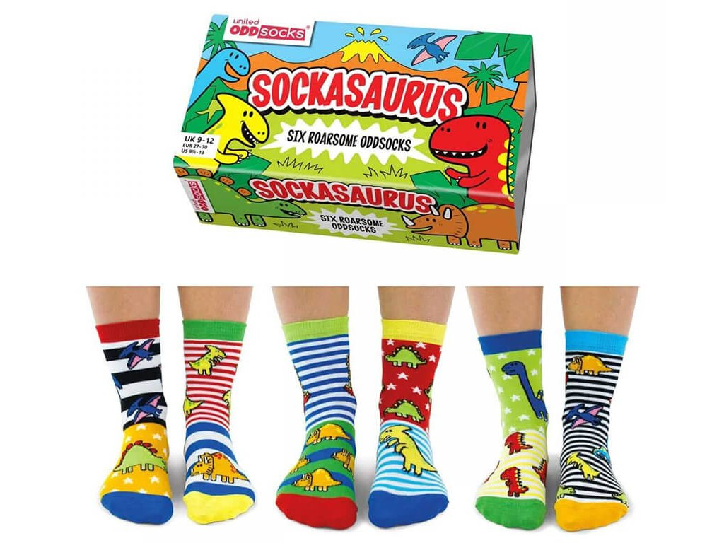 Detské veselé ponožky Sockasaurus veľ.: 27-30