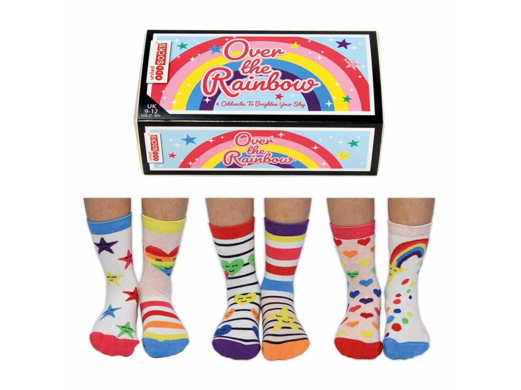 Detské veselé ponožky Over the Rainbow veľ.: 27-30