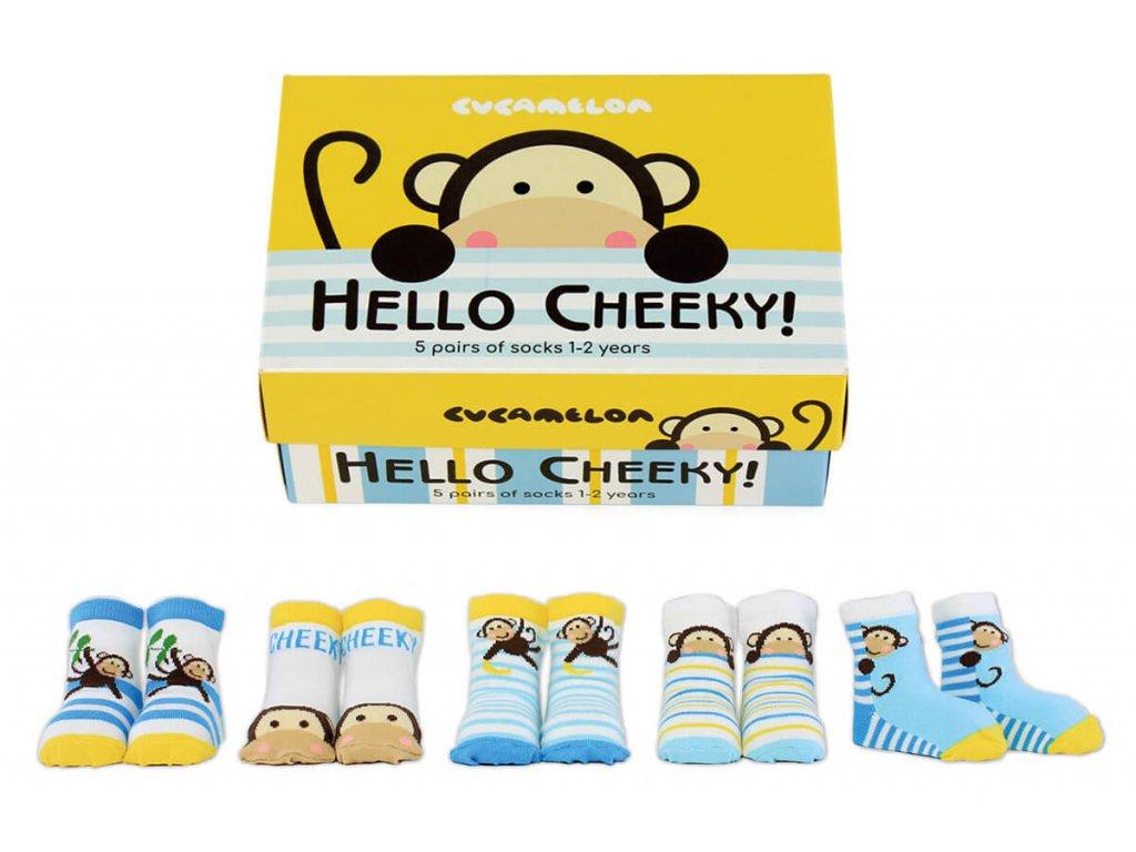 Detské veselé ponožky Hello cheeky! veľ.: 1-2 roky