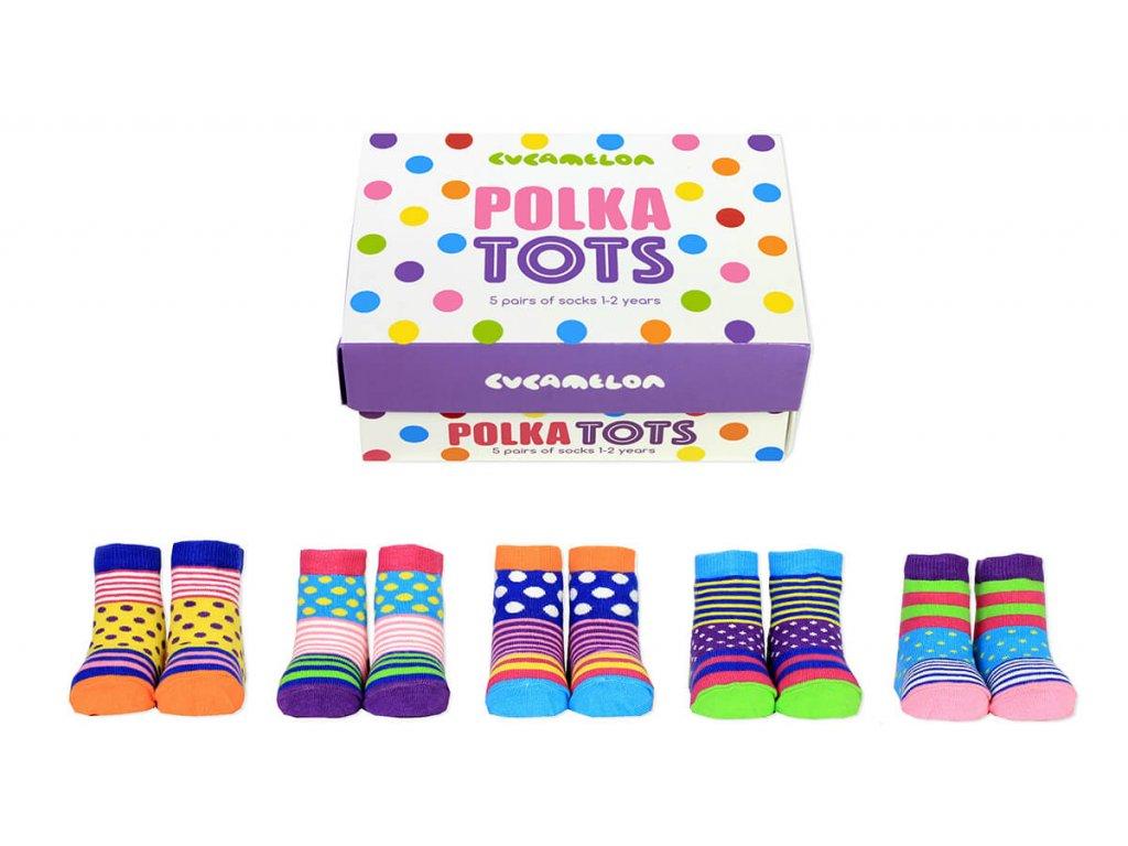 Detské veselé ponožky Polka Tots veľ.:1-2 roky