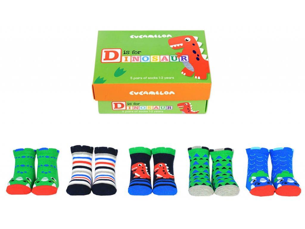 Detské veselé ponožky D is for dinosaur veľ.:1-2 roky