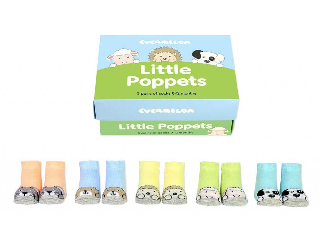 Detské veselé ponožky Little Poppets veľ.: 0-12 mesiacov
