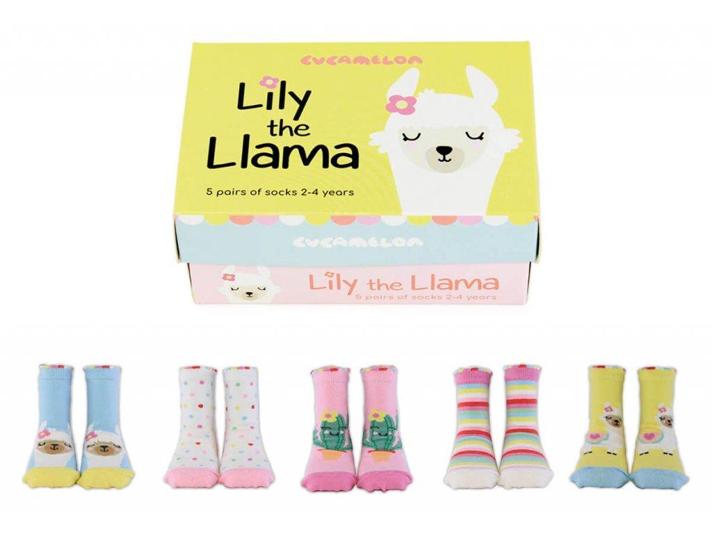 Detské veselé ponožky Lily the Llama veľ.: 2-4 roky
