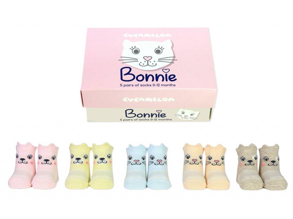 Detské veselé ponožky Bonnie veľ.: 0-12 mesiacov