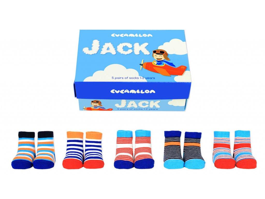 Detské veselé ponožky Jack veľ.: 1-2 roky