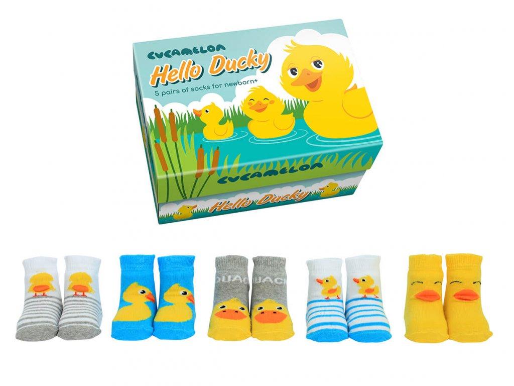 Detské veselé ponožky Hello Ducky veľ.: 0-12 mesiacov od firmy Cucamelon