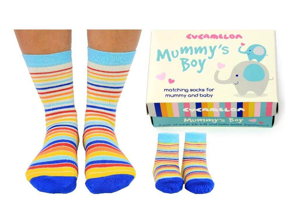 Darčekové balenie ponožiek Mummy's boy (mama+syn)