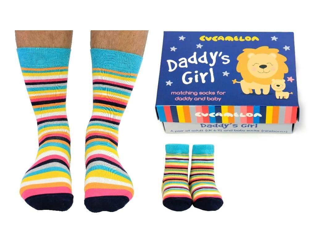 Darčekové balenie Daddy's girl (otec+dcéra) veľ. 39-46 + 0-12 mesiacov