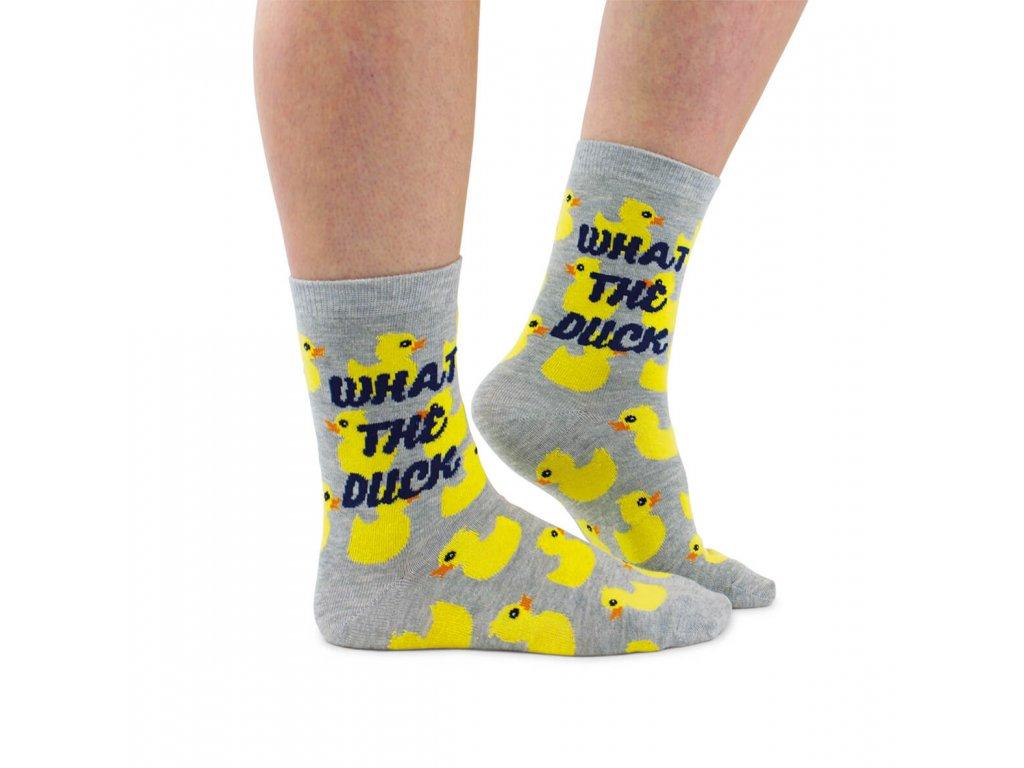 Veselé ponožky What the Duck veľ.: 37-42 od firmy Cockney Spaniel