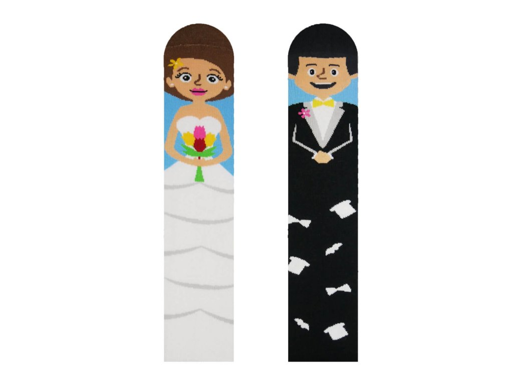 Veselé ponožky Nevesta a ženích od firmy Hesty Socks