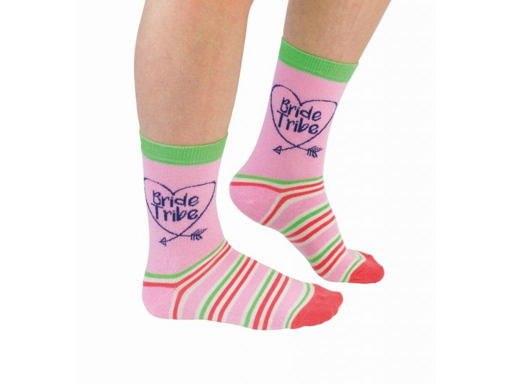 Veselé ponožky Bride Tribe veľ.: 37-42