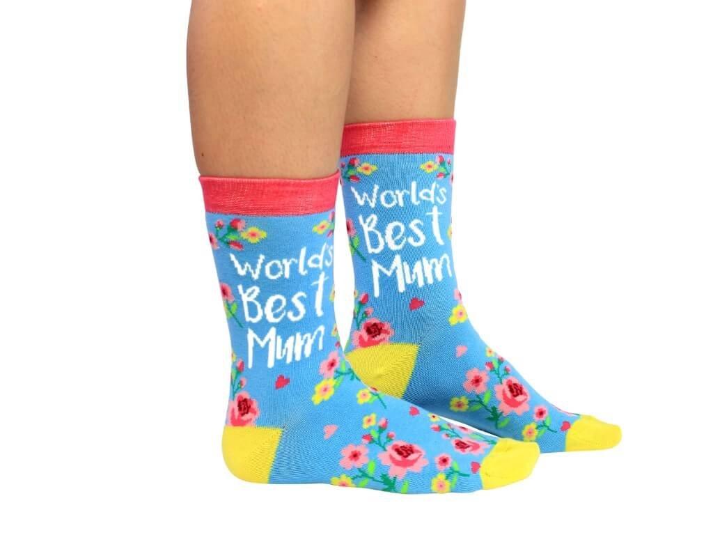 Veselé ponožky World's Best Mum veľ.: 37-42