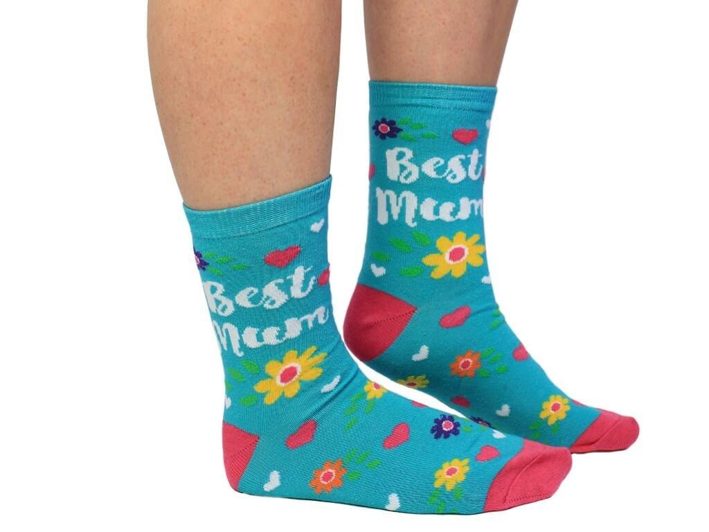 Veselé ponožky Best Mum veľ.: 37-42
