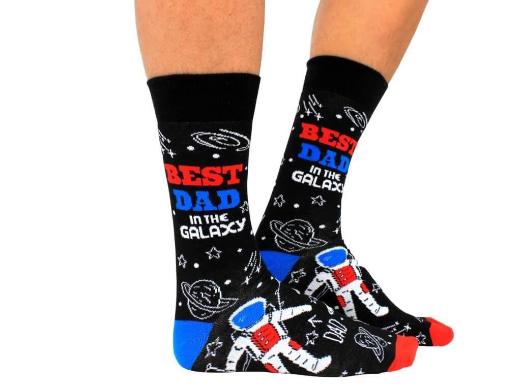 Veselé ponožky Best Dad in the Galaxy veľ.: 39-46
