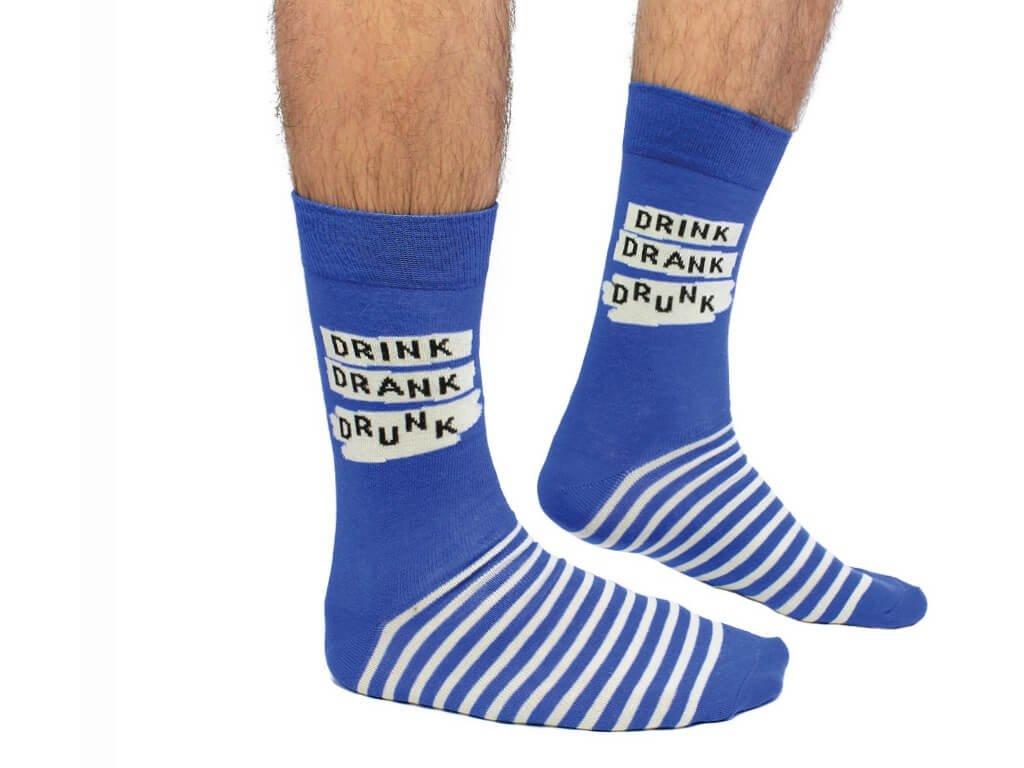Veselé ponožky Drink, Drank, Drunk veľ.: 39-46
