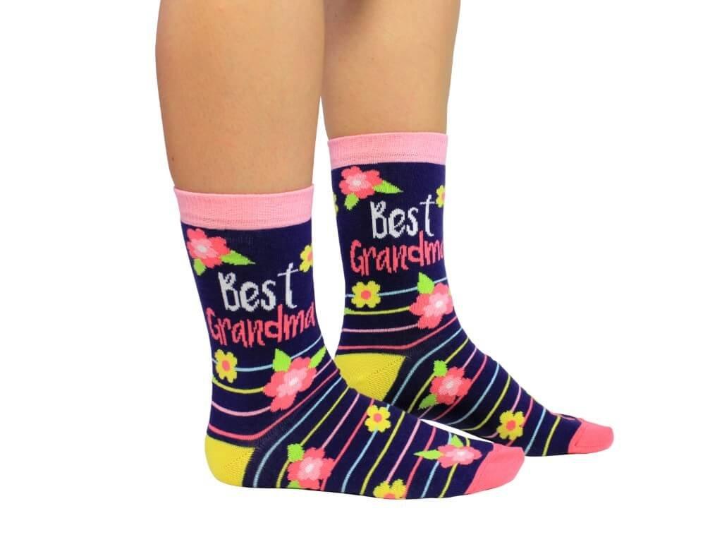 Veselé ponožky Best Grandma veľ.: 37-42