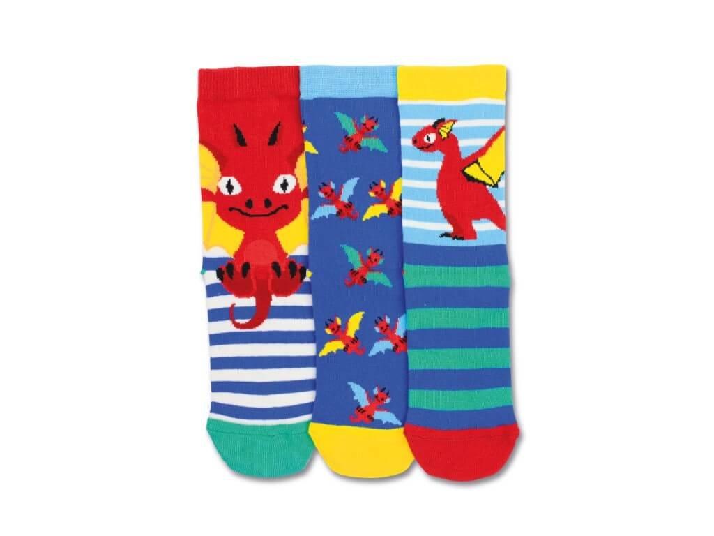 Detské veselé ponožky Dragon 3ks veľ.: 27-30