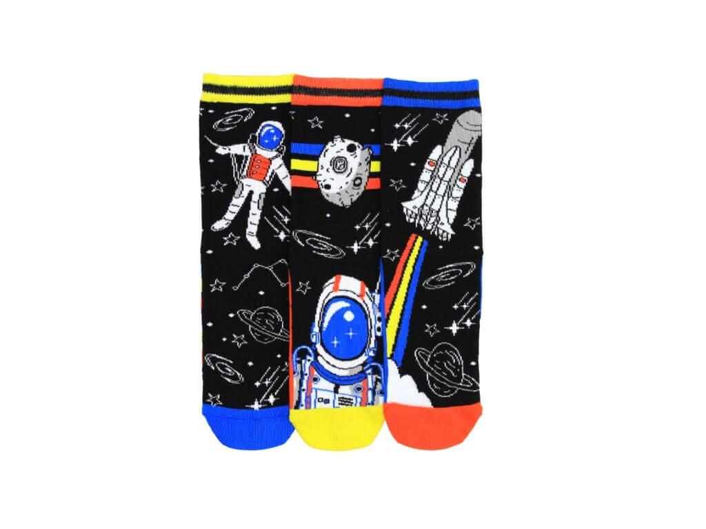 veselé ponožky vesmír 3 ks
