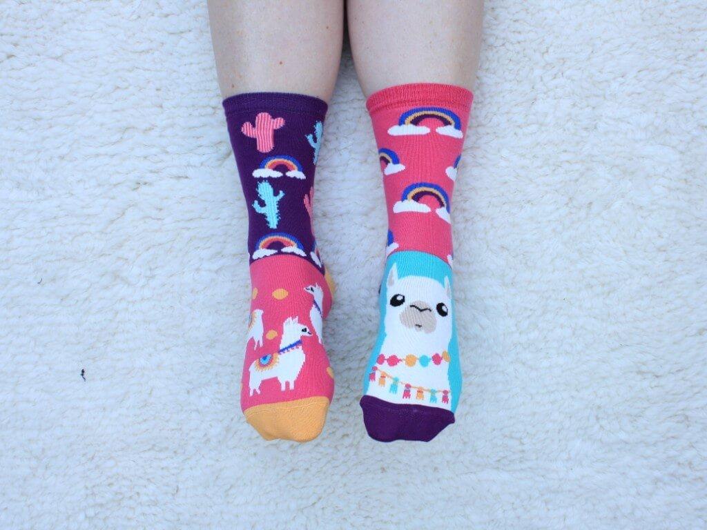veselé ponožky lama 3 ks