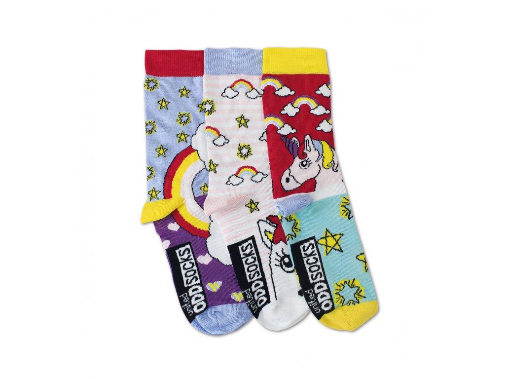 Veselé ponožky Unicorns 3ks veľ.: 31-39