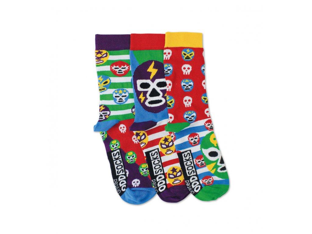 Veselé ponožky Mask 3ks veľ.: 31-39