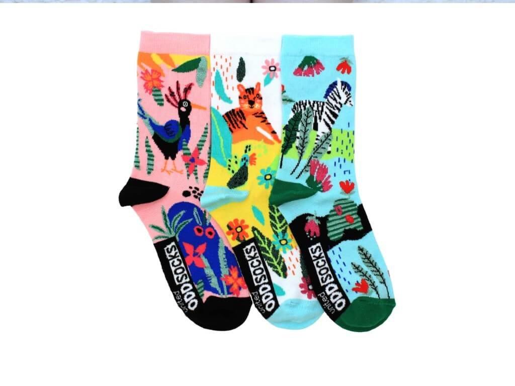 Veselé ponožky Zebra 3ks veľ.: 31-39