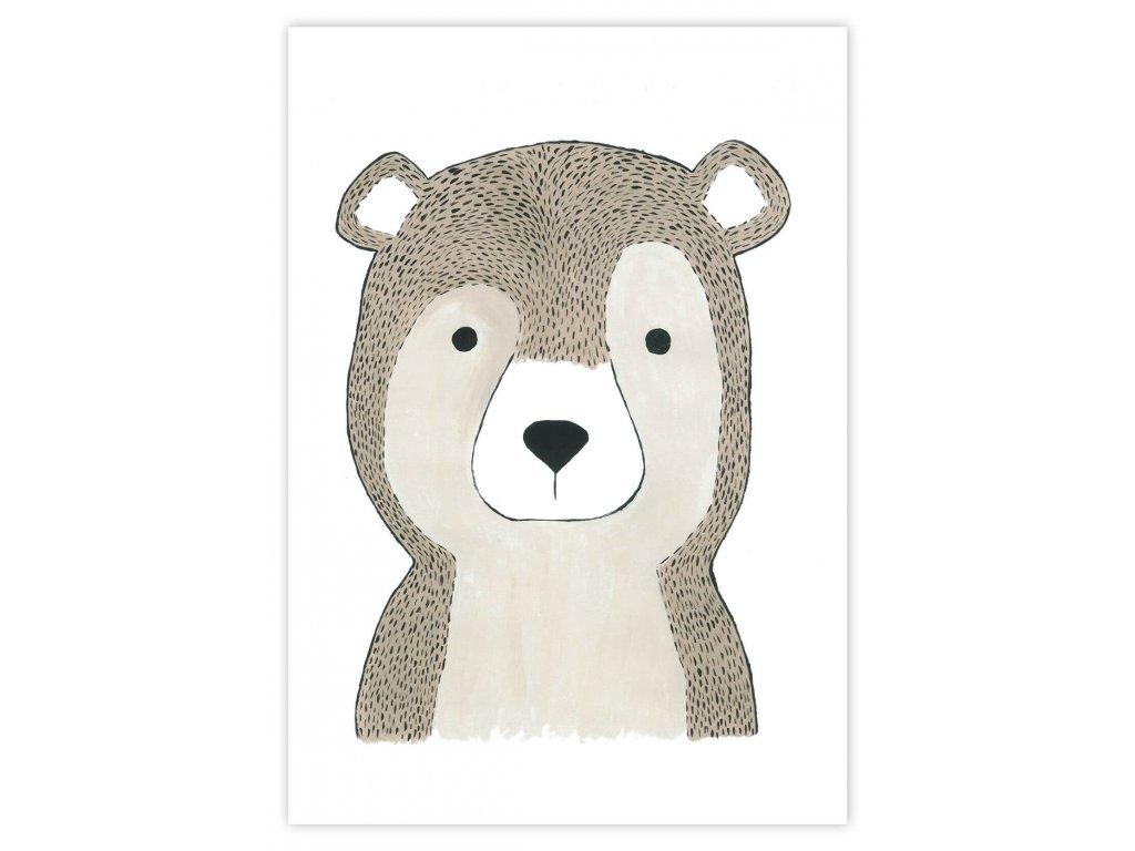 Detský plagát Medveď (gramáž 350g/m2)