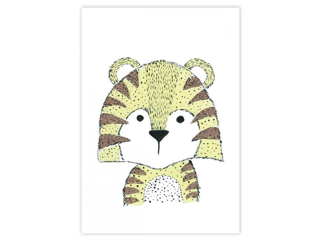 Detský plagát Tiger (gramáž 350g/m2)