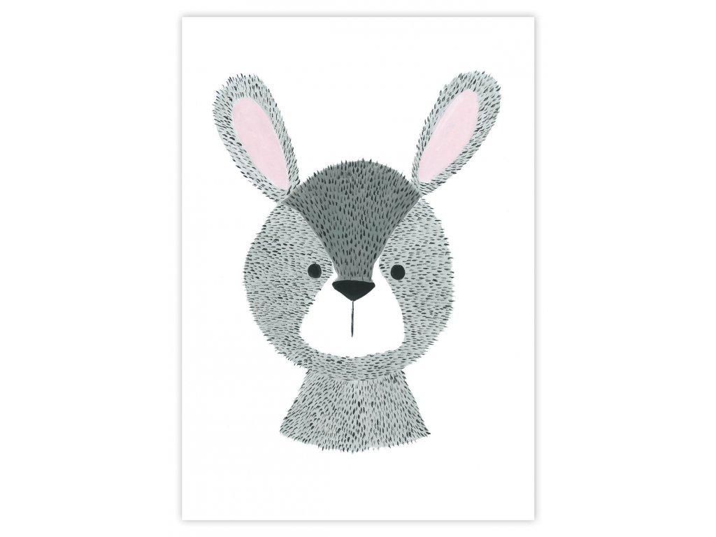 Detský plagát Zajac (gramáž 350g/m2)