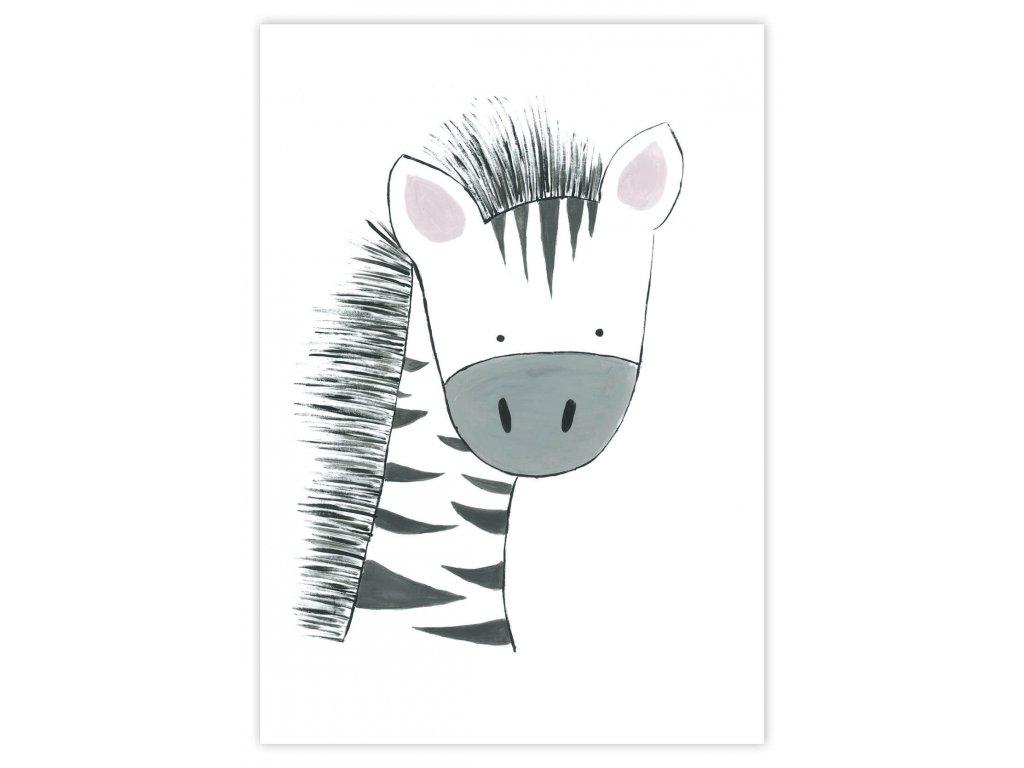 Detský plagát Zebra (gramáž 350g/m2)