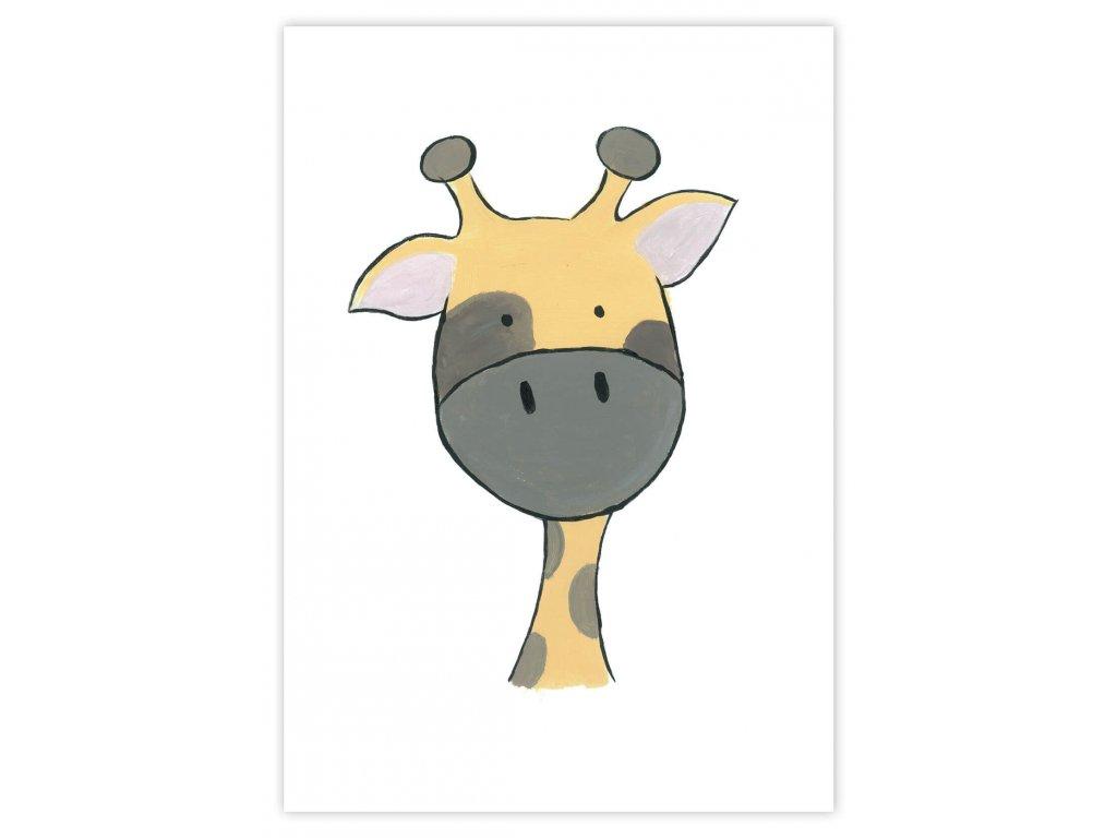 Detský plagát Žirafa (gramáž 350g/m2)