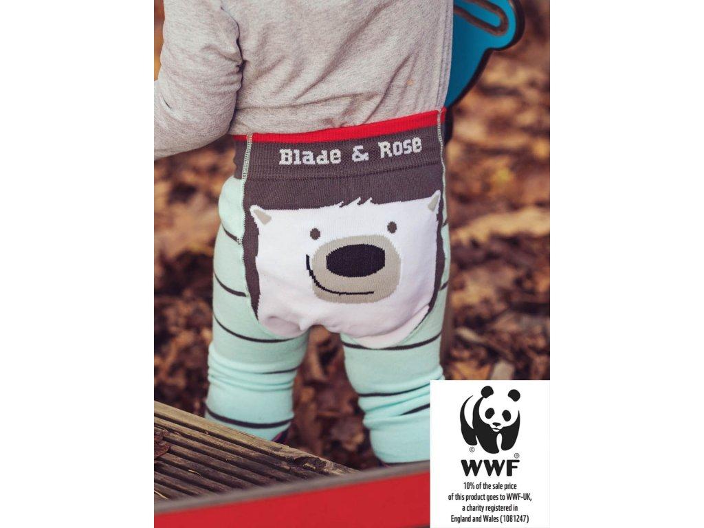Detské legíny Organic WWF Polar Bear