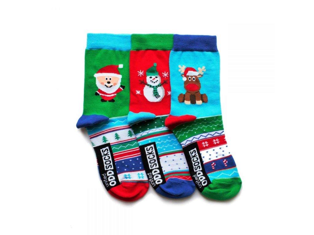 Veselé ponožky Snow 3ks veľ.: 31-39