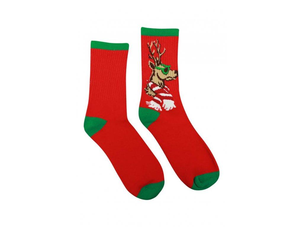 Veselé Termo ponožky Jeleň