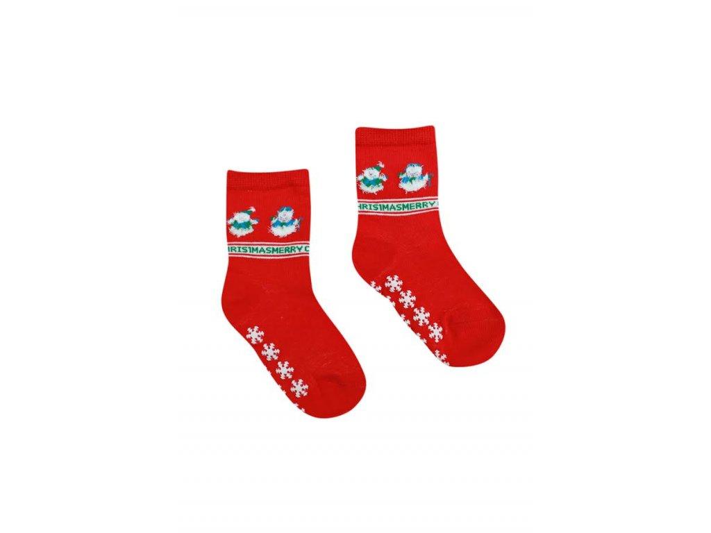 Detské ponožky snehuliak