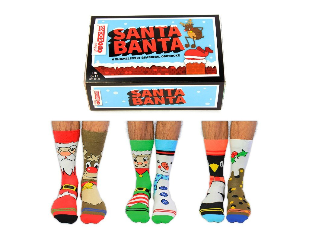 Veselé vianočné ponožky Santa Banta veľ. 39-46