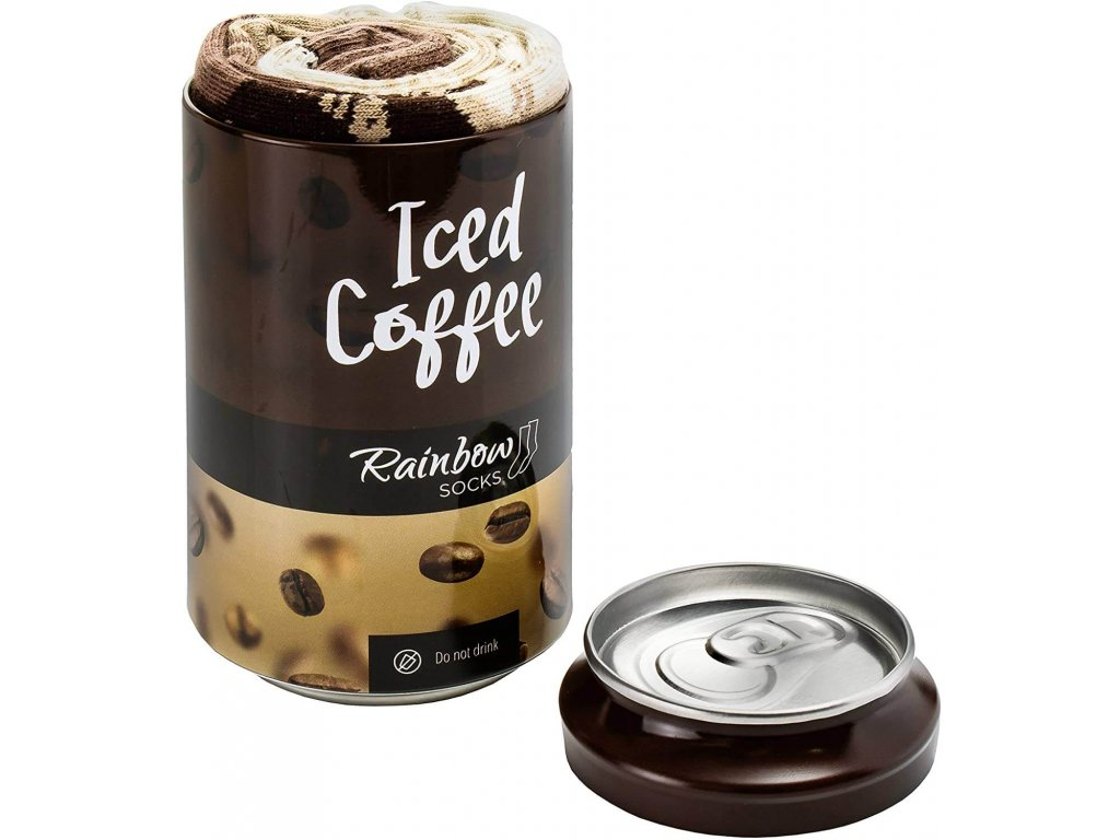 Darčekové balenie ponožiek Ľadová káva v plechovke (1 pár)