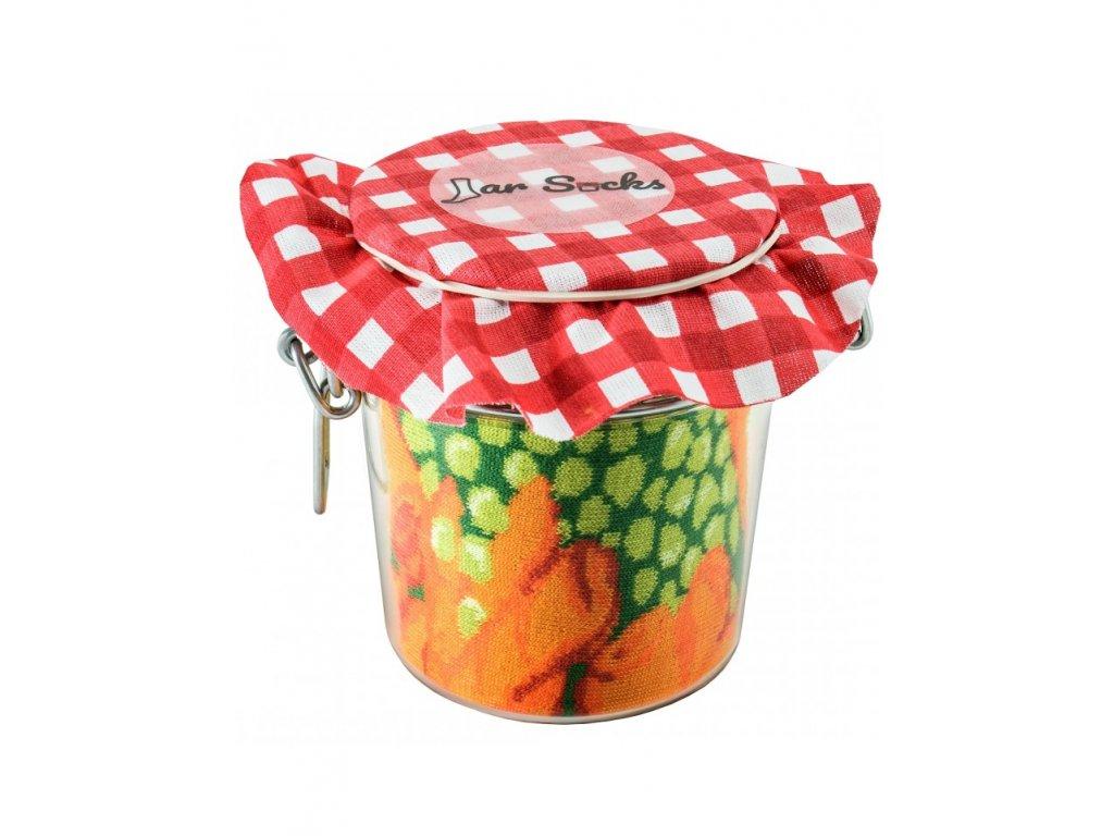 Darčekové balenie ponožiek Zaváraný hrášok s mrkvou a citrónom (2 páry)