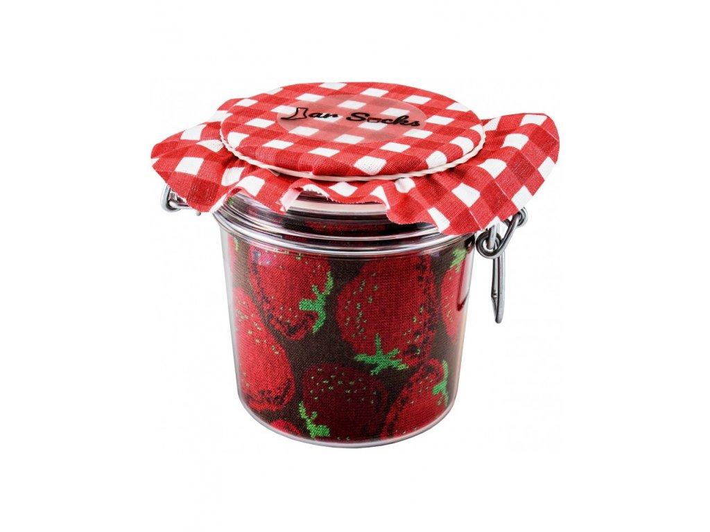 Darčekové balenie ponožiek Zavárané jahody a čučoriedky (2 páry)