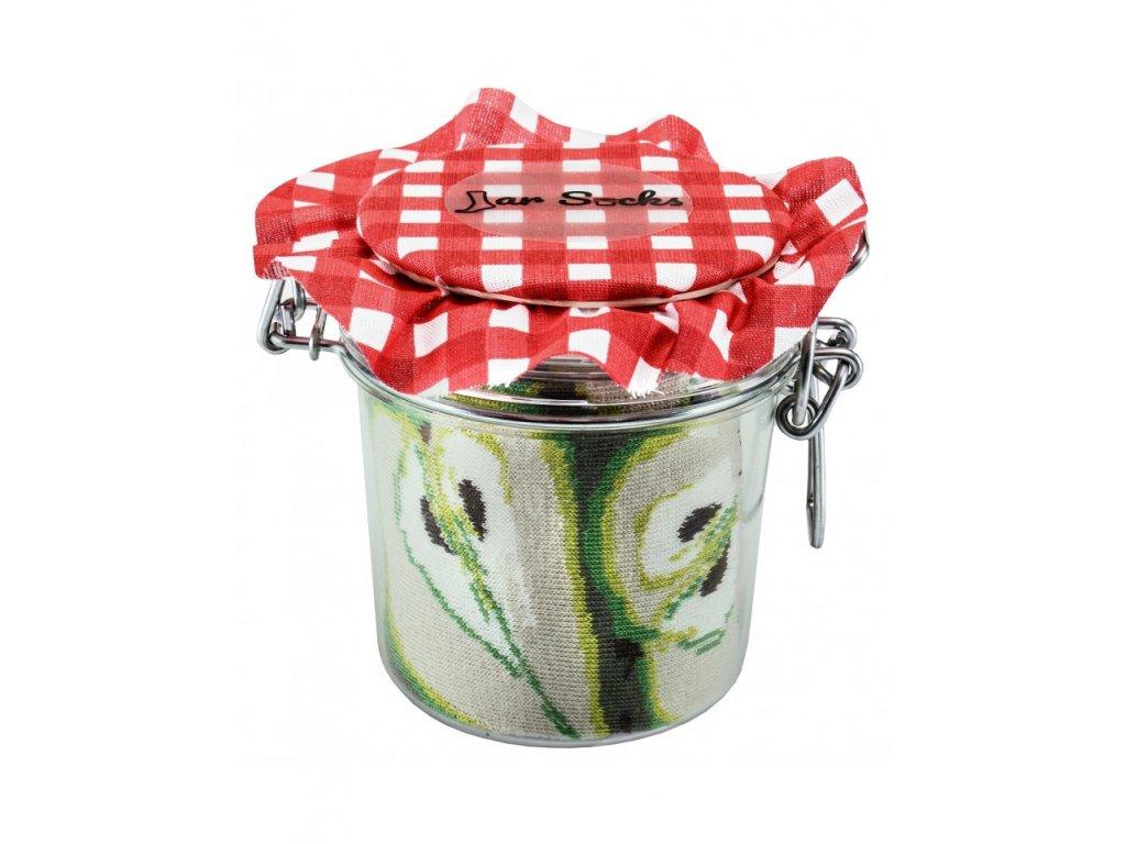 Darčekové balenie ponožiek Zavárané hrušky a jahody (2 páry)