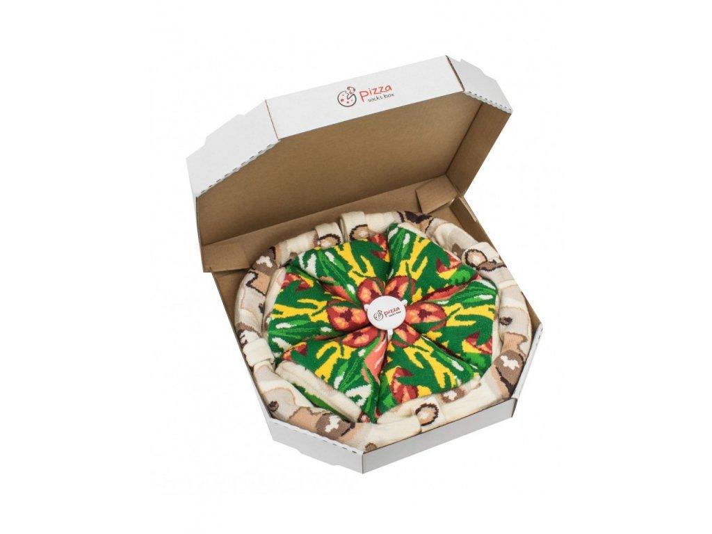 Darčekové balenie ponožiek Pizza Box - Italiana (4 páry)
