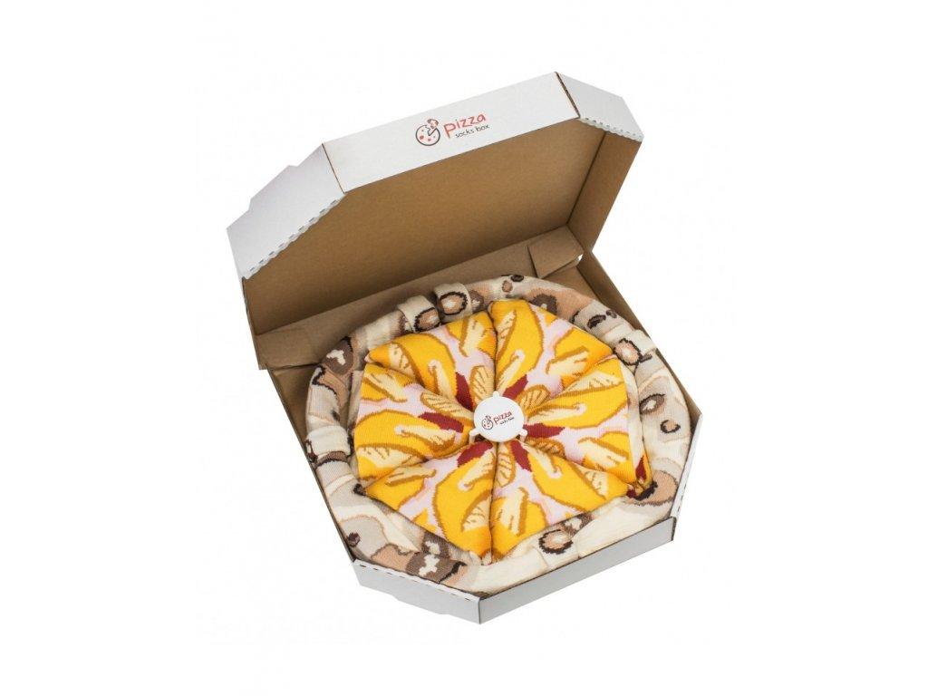 ponozky pizza box hawaii paradoo