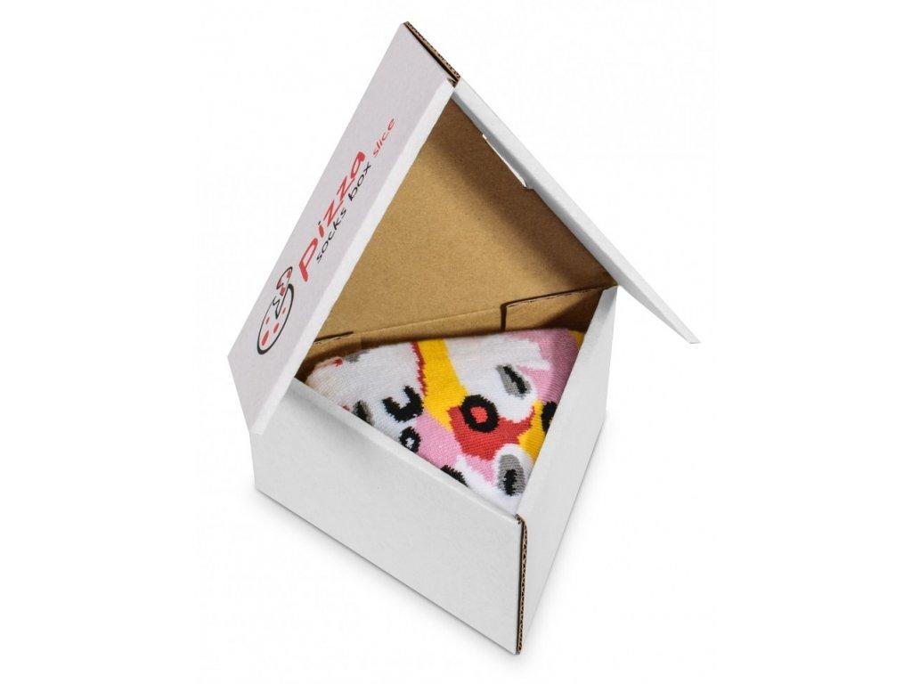Darčekové balenie ponožiek Pizza Box - Capriciosa (1 pár)
