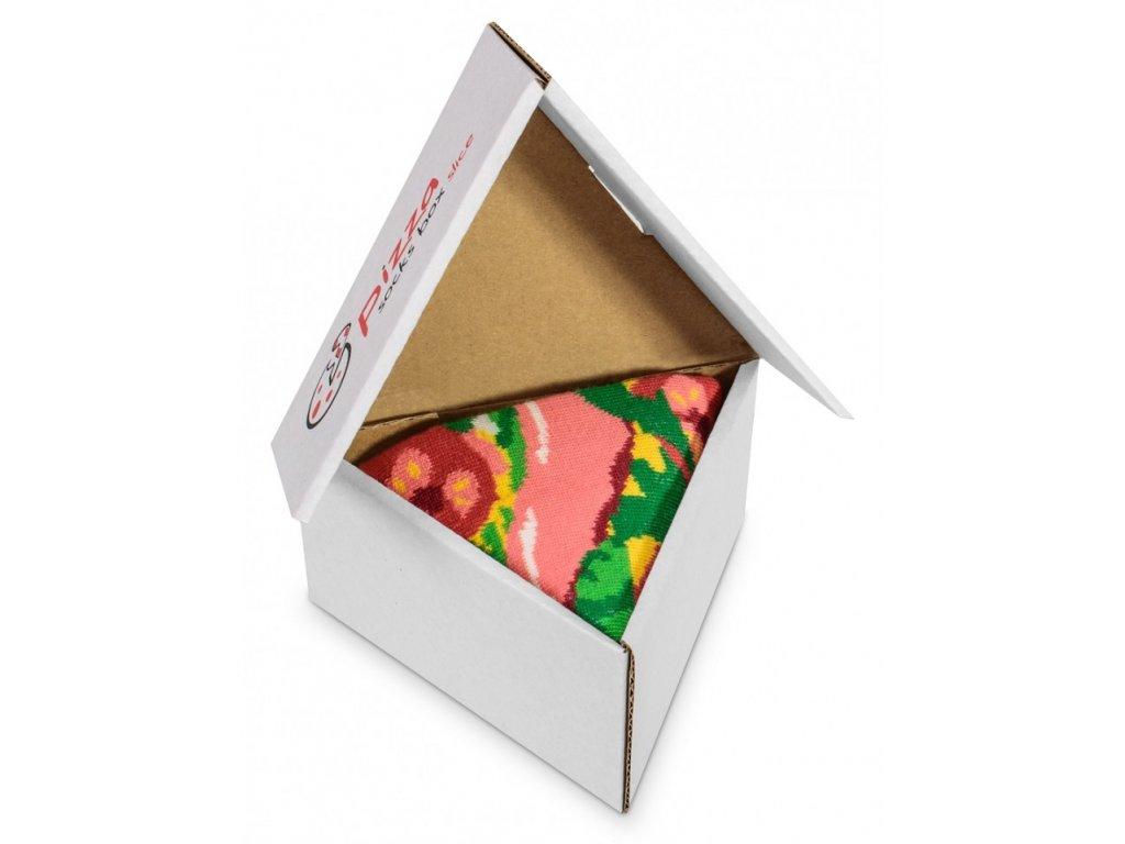 Darčekové balenie ponožiek Pizza Box - Italiana (1 pár)