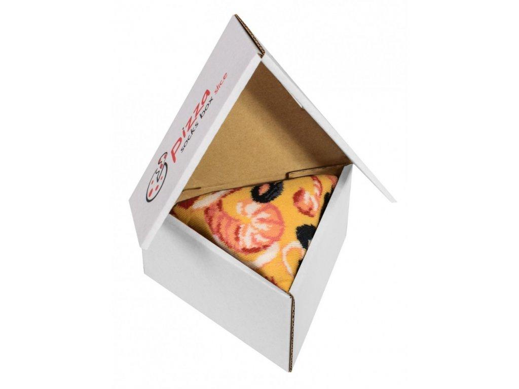 Darčekové balenie ponožiek Pizza Box - Seafood (1 pár)