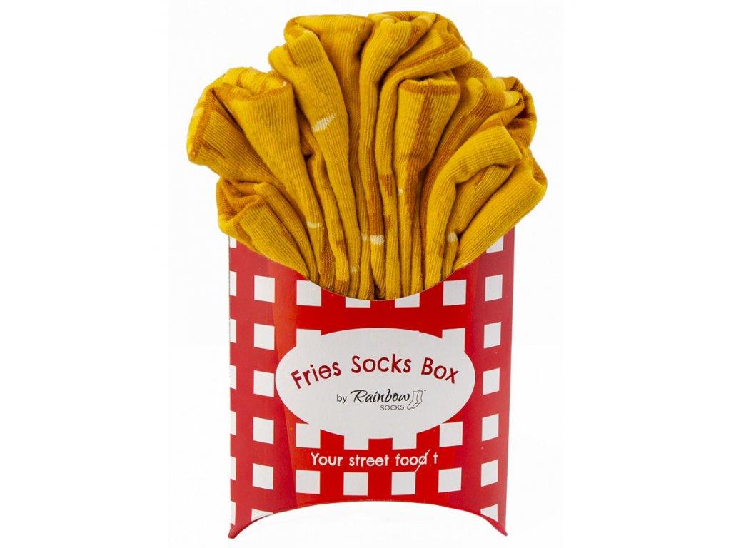 Darčekové balenie ponožiek Hranolky (2 páry)