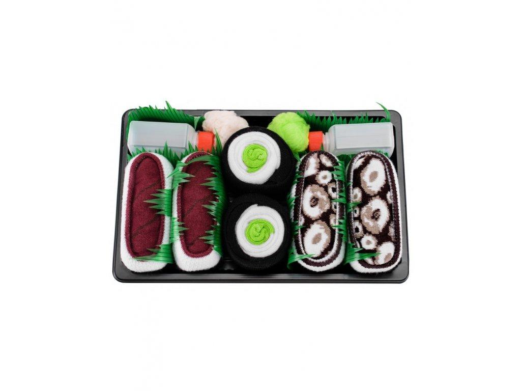 Ponožky Sushi Box - MIX 6 (3 páry)