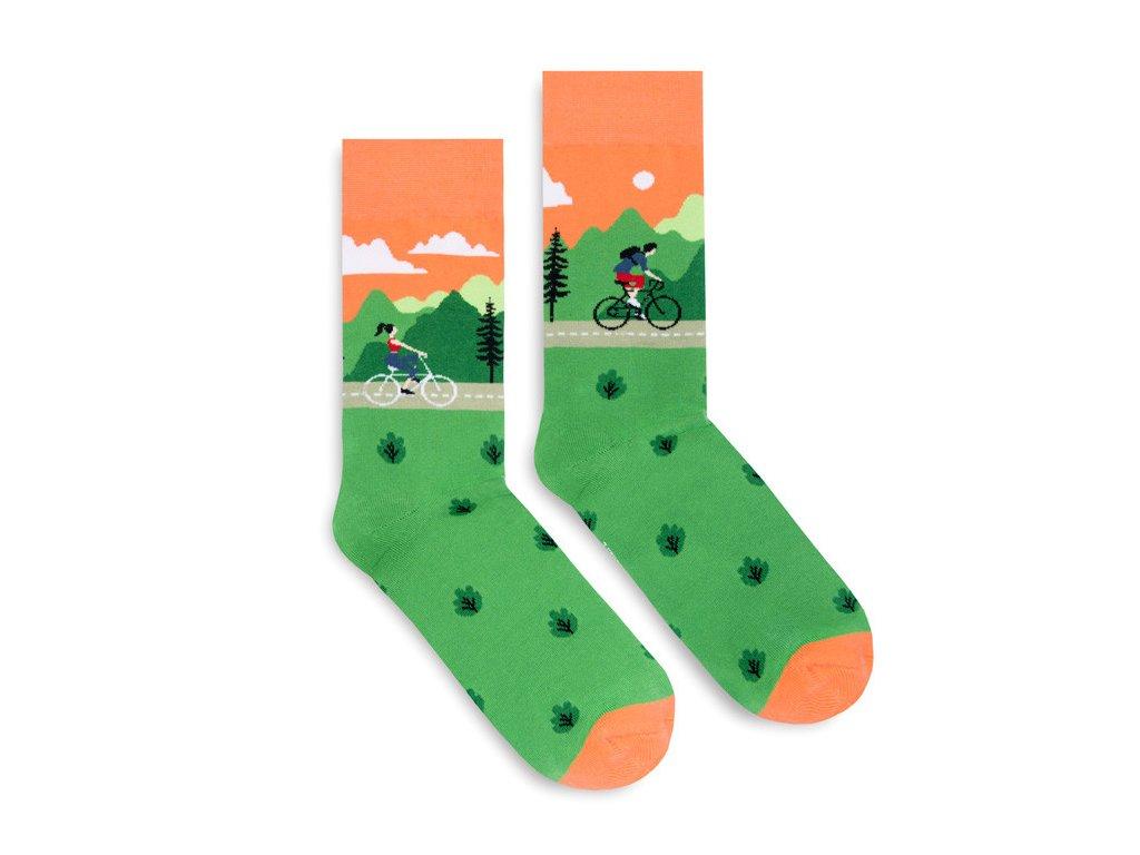 Veselé ponožky Bike Ride